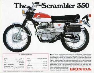 SCRAMBLER 350 HONDA