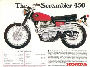 SCRAMBLER 450 HONDA
